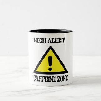 high alert caffeine zone funny christmas mug