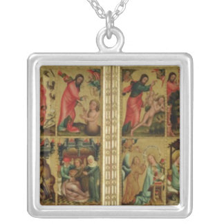 High Altar of St Peter's in Hamburg Square Pendant Necklace