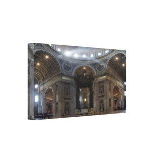 High Alter Saint Peter's Basilica The Baldacchino Gallery Wrap Canvas