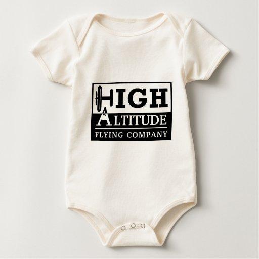 High Altitude Flying Company Logo Baby Creeper