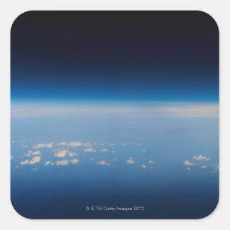High altitude photo of Earth 4 Square Sticker