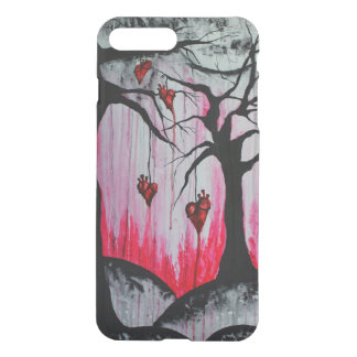 High and Dry Heart Trees Art iPhone7+ Clear Case