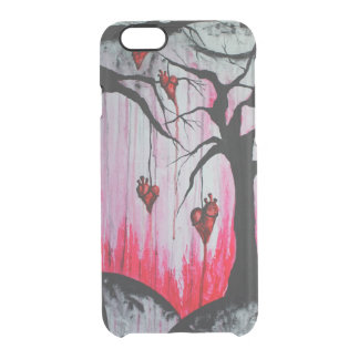 High and Dry Heart Trees Art iPhone 6 Clear Case