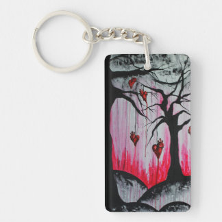 High and Dry Heart Trees Goth Art Acrylic Keychain