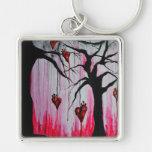 High and Dry Heart Trees Original Art Keychain