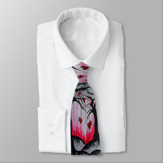 High and Dry Heart Trees Original Art Necktie