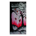High and Dry Heart Trees Original Art Poster