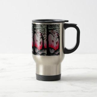 High and Dry Heart Trees Original Art Travel Mug
