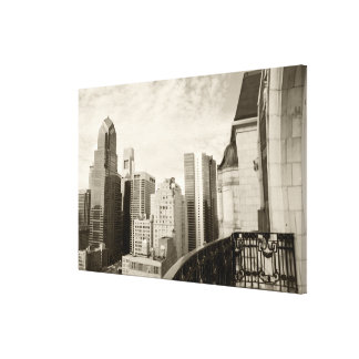 High angle view at Philadelphia downtown Stretched Canvas Prints