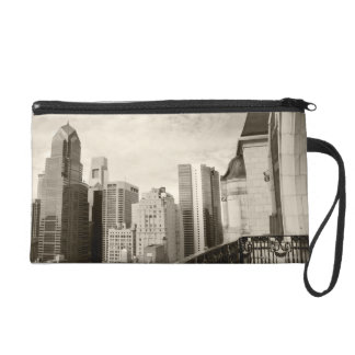 High angle view at Philadelphia downtown Wristlet Purse