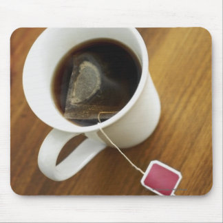High angle view of a cup of tea mouse pad