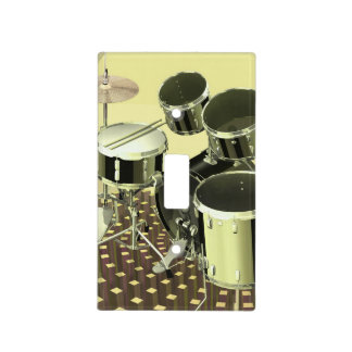 High angle view of a drum kit light switch cover