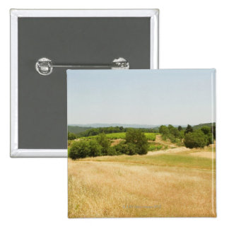 High angle view of a field, Siena Province, 2 2 Inch Square Button
