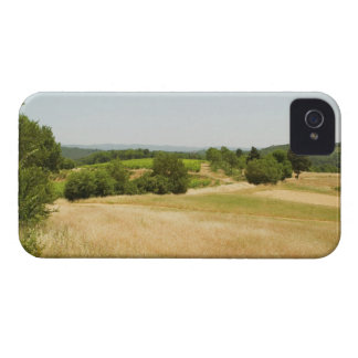 High angle view of a field, Siena Province, 2 iPhone 4 Case