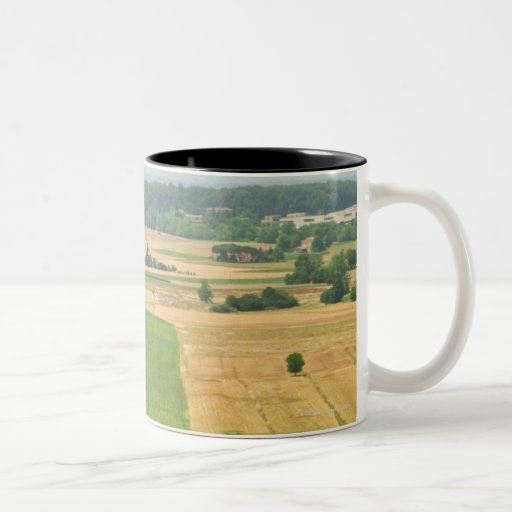 High angle view of a field, Siena Province, Coffee Mugs