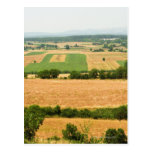 High angle view of a field, Siena Province, Post Card