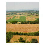 High angle view of a field, Siena Province, Poster