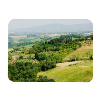 High angle view of a landscape, Siena Province, Magnet