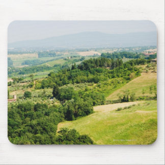 High angle view of a landscape, Siena Province, Mouse Pad