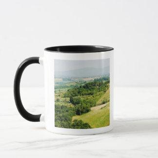 High angle view of a landscape, Siena Province, Mug
