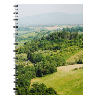 High angle view of a landscape, Siena Province, Notebook