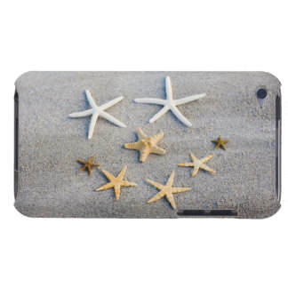 High angle view of a starfish on the beach iPod touch case