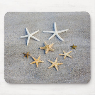 High angle view of a starfish on the beach mouse pad
