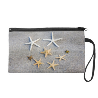 High angle view of a starfish on the beach wristlet
