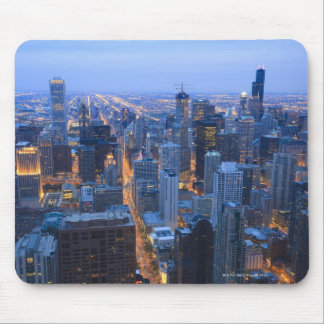 High angle view of Chicago looking south from Mouse Pad