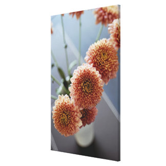 High angle view of flowers in a vase gallery wrap canvas