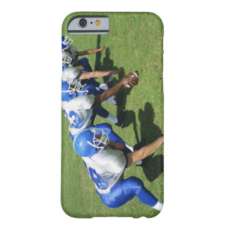 high angle view of four football players playing barely there iPhone 6 case
