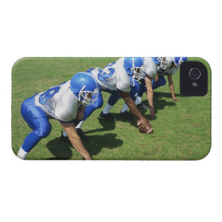 high angle view of four football players playing Case-Mate iPhone 4 case