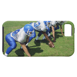 high angle view of four football players playing iPhone SE/5/5s case
