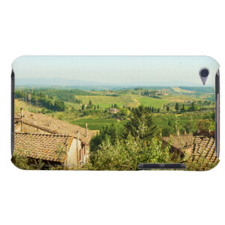 High angle view of houses with vineyard in the iPod touch cover