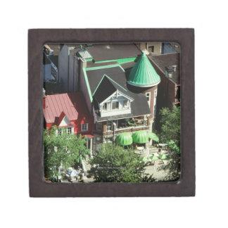 High angle view of neighborhood, Canada Jewelry Box