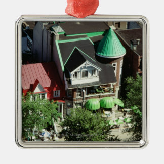 High angle view of neighborhood, Canada Christmas Tree Ornament