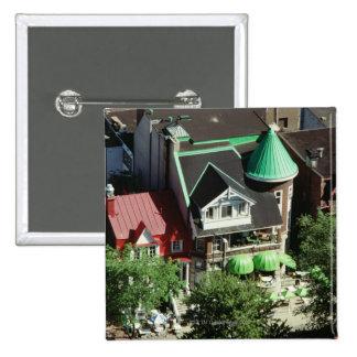 High angle view of neighborhood, Canada Pinback Button