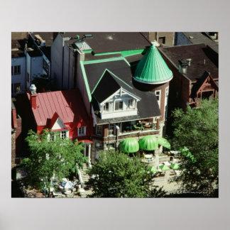 High angle view of neighborhood, Canada Poster