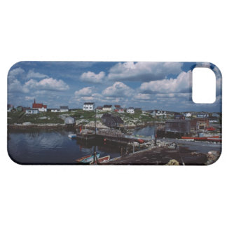 High angle view of provincial seaside town, iPhone SE/5/5s case