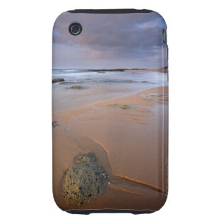 High angle view of shoreline rocks at dawn and tough iPhone 3 covers