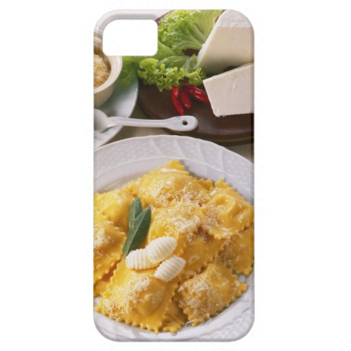 high angle view of stuffed ravioli served with iPhone 5 case