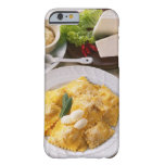 high angle view of stuffed ravioli served with barely there iPhone 6 case
