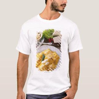 high angle view of stuffed ravioli served with T-Shirt