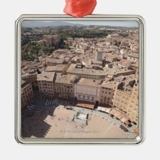 High Angle View of Townscape, Siena, Italy Metal Ornament