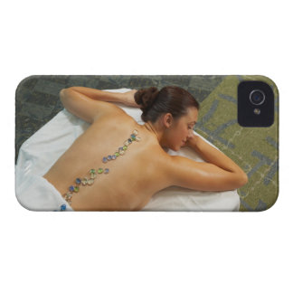 High angle view of woman receiving hot stone Case-Mate iPhone 4 case