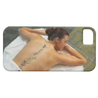 High angle view of woman receiving hot stone iPhone SE/5/5s case