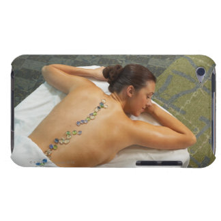 High angle view of woman receiving hot stone iPod touch Case-Mate case