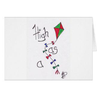 High as a kite card
