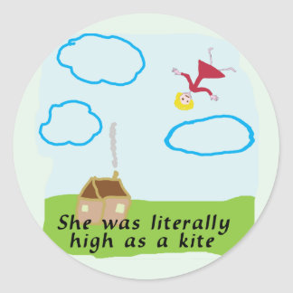High As A Kite Classic Round Sticker
