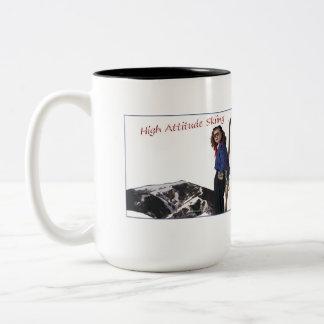 High Attitude Skiing Two-Tone Coffee Mug